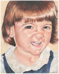 Colored pencil portrait entitled Big Smile