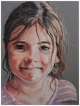 Colored pencil portrait entitled Clara, 4.