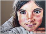 Colored pencil portrait entitled Clara, 9