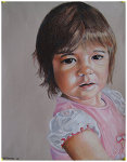Colored pencil portrait entitled Clara at 15 Months