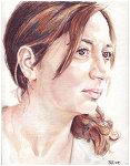 Colored pencil drawing entitled Deniz