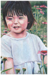 Colored pencil portrait entitled Hope.