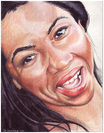 Colored pencil portrait entitled LaTonya