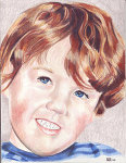 Colored Pencil portrait of a young boy.