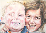 Colored Pencil portrait entitled Nate & Hannah