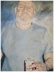 Colored pencil portrait entitled Old Man
