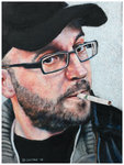 Colored pencil portrait entitled @patrick_h_lauke