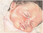 Colored pencil drawing entitled Penelope
