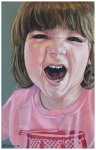 Colored pencil portrait entitled Rawr!.