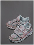 Colored pencil drawing entitled Pink Sneakers