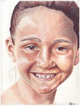Colored pencil portrait entitled Sophia