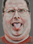 Colored pencil portrait of Kevin Lawver